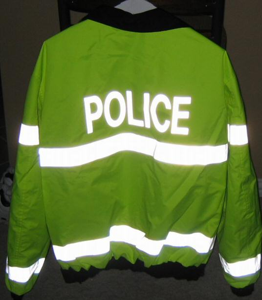 Reflective letters / lettering and logo heat transfer - iron on  letters/police-reversible-3.jpg