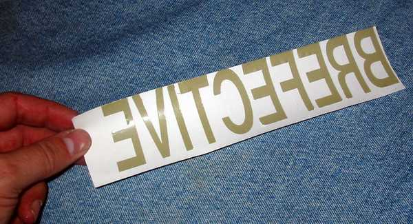 Reflective letters / lettering and logo heat transfer - iron on  letters/reflective-letters-before.JPG